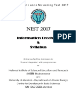 NEST2017 Brochure Syllabus