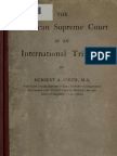 (1920) The American Supreme Court as an International Tribunal