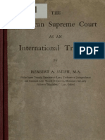 (1920) The American Supreme Court as an International Tribunal