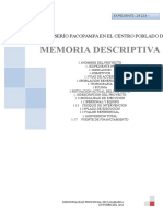 Memoria Descriptiva Sap - Tual