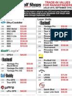Worldwide Golf Shops Rangefinder Trade-In Values