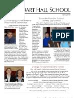 Stuart Hall School Spring Newsletter 2010
