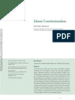 Islamic Constitutionalism