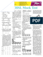 SSC CHSL Mock Test by Nipuna Part-1