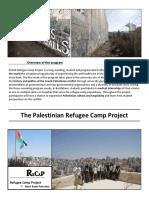 RECAP/ Refugee Camp Project Palestine - Program Report 2016