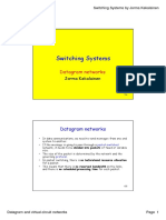 Switching Systems - Datagram and Virtual-circuit Networks