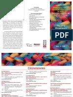 Folder Encontro Da Rede de Trocas Das Licenciaturas Da UFOP