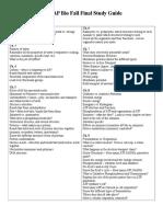 AP Bio Fall Final Study Guide 16
