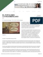 El populismo latinoamericano | Lorena Arraiz Rodríguez