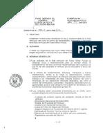 Directiva Para Normar El Uso y Control de Combustible de La Flota Vehicular Del Fuero Militar Policial