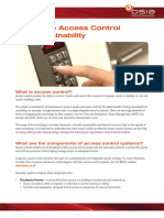 145 a Guide to Access Control Sustainability