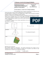 Guía 10-Cálculo de Volumen