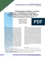 Efeitos Dos Treinamentos Aeróbico, De Força Nas Variaveis Antropometricas de Homens Não Obesos