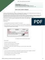 SBIF - Todo Lo Que Debe Saber Sobre Los Cheques