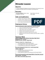 miranda lauzon resume