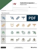Cuadernillo de Respuestas 1 WPPSI IV