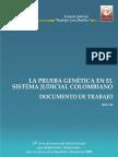 La Prueba Genetica en El Sistema Judicial Colombiano