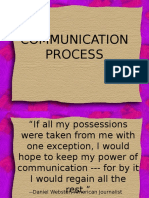 Intro to Communication Process
