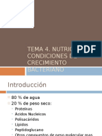 Crecimiento y Nutricion Bacteriana