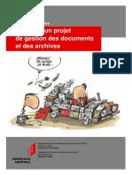 Conduire Un Projet de Gestion Des Documents Et Des Archives