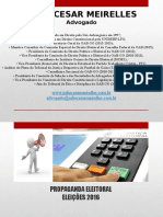 Propaganda Eleitoral (Eleições 2016) Julio Meirelles