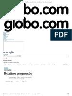 Razão e Proporção _ Matemática Básica _ Matemática _ Educação
