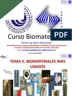 Biomateriales CECOB Tema II. Tipos de Biomateriales.