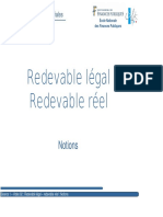 Redevable Légal, Redevable Réel Notions