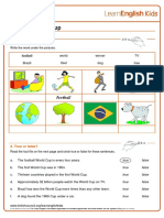 Reading Practice Football World Cup Worksheet v2