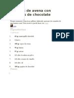 Galletas de Avena Con Chisspas de Chocolate