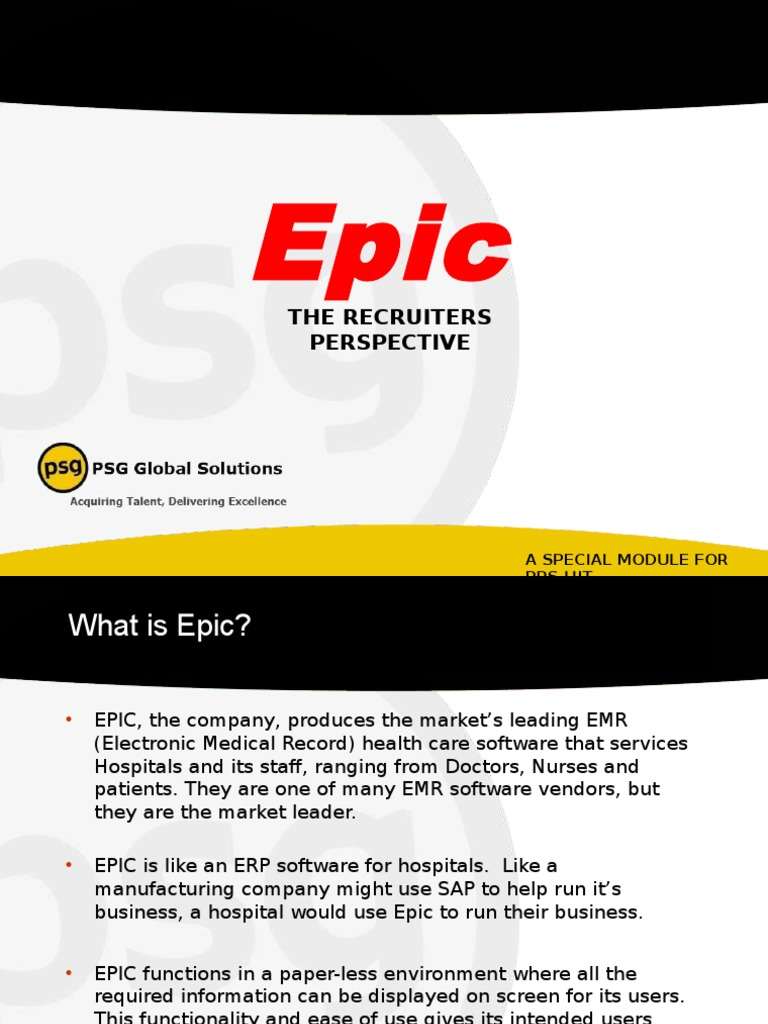 Epic presentation electronic health record service industries 1betcityfo Choice Image