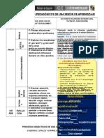Procesos Pedagógicos de Una Sesión de Aprendizaje Para Docente Monitoreo