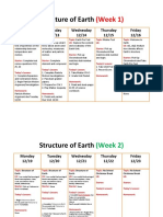 structure of earth calendar