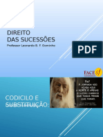 Direito  das Sucessões Módulo 09 Codicilo Substituição..ppt