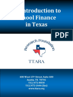 An Introduction to School Finance in Texas TTARA