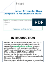 Communication Drivers for Drug Adoption