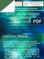 3.4 El Uso de Internet Como SI