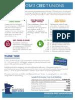 Minnesota Credit Union Network 2017 Legislative Fact Sheet
