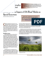 Off-Road Vehicle Impacts on Special Ecosystems