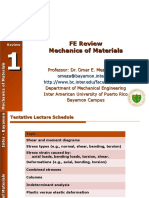 FE Review - Strength of Materials - Omar Meza