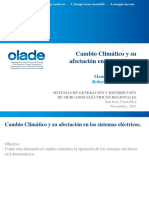 Sesión 8. Cambio Climático y Su Afectación en Los Sistemas Eléctricos.