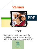 Values in life
