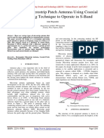 Rectangular Microstrip Patch Antenna Using Coaxial Probe Feeding Technique to Operate in S-Band.pdf