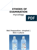 Methods of Examination Mycology