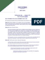 Provisions of Lgc