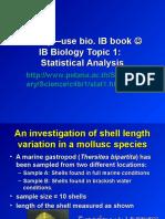 IB Biology Topic 1