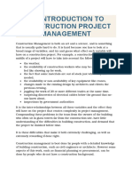 An Introduction to Construction Project Management