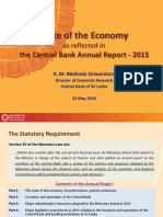 Lecture Slides Sate of the Economy Sri Lanka 2105