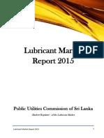 Lubricant Market Report 2015 Sri Lanka