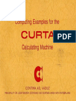 Computing Examples for the Curta Calculating Machine